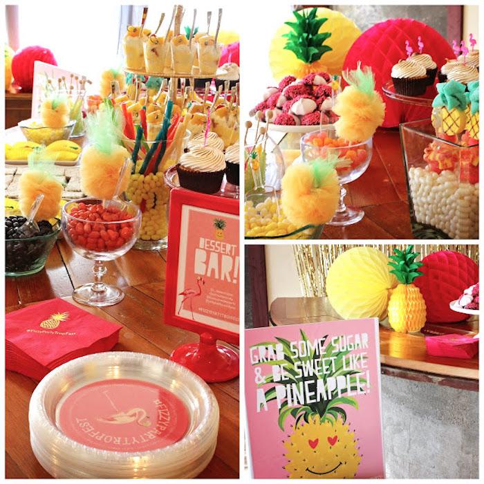 Dessert bar detail from a Tropical Dessert Bar on Kara's Party Ideas | KarasPartyIdeas.com (14)