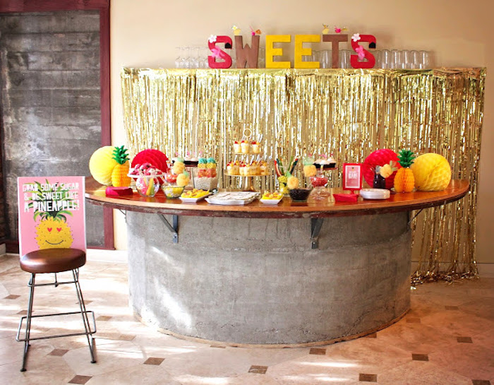 Tropical Dessert Bar on Kara's Party Ideas | KarasPartyIdeas.com (13)