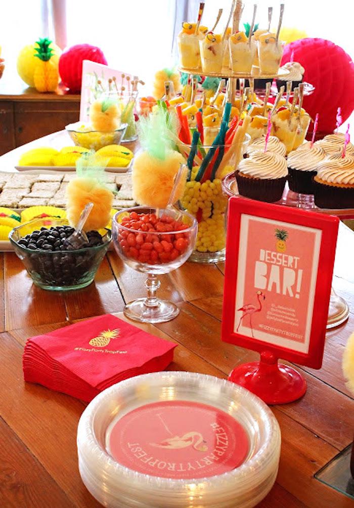 Tropical Dessert Bar on Kara's Party Ideas | KarasPartyIdeas.com (12)