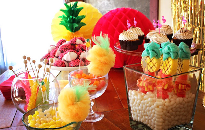 Dessert bar from a Tropical Dessert Bar on Kara's Party Ideas | KarasPartyIdeas.com (9)