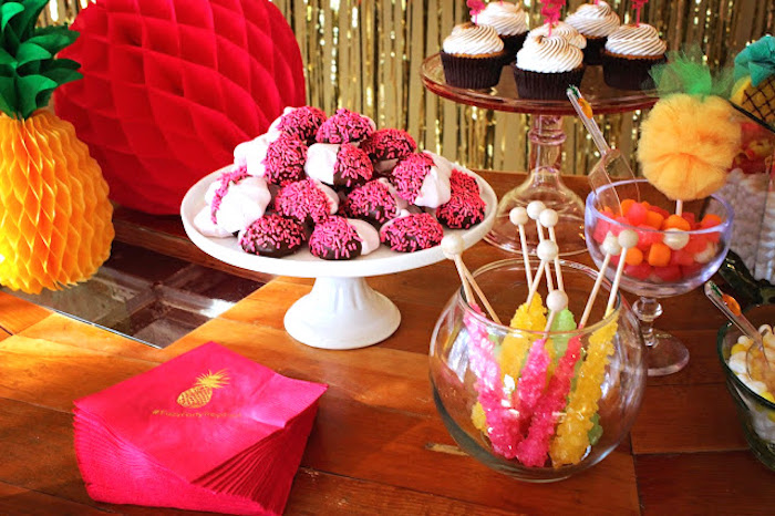 Sweets from a Tropical Dessert Bar on Kara's Party Ideas | KarasPartyIdeas.com (7)