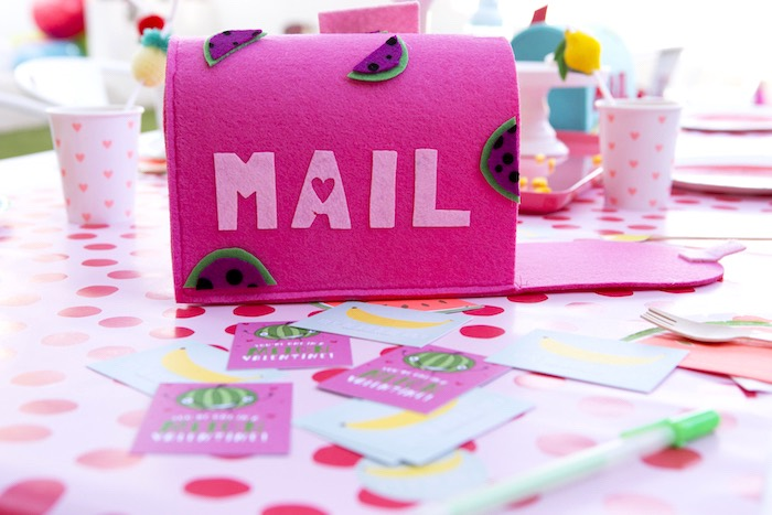 Frutti mailbox from a Tutti Frutti Valentine's Day Party on Kara's Party Ideas | KarasPartyIdeas.com (7)