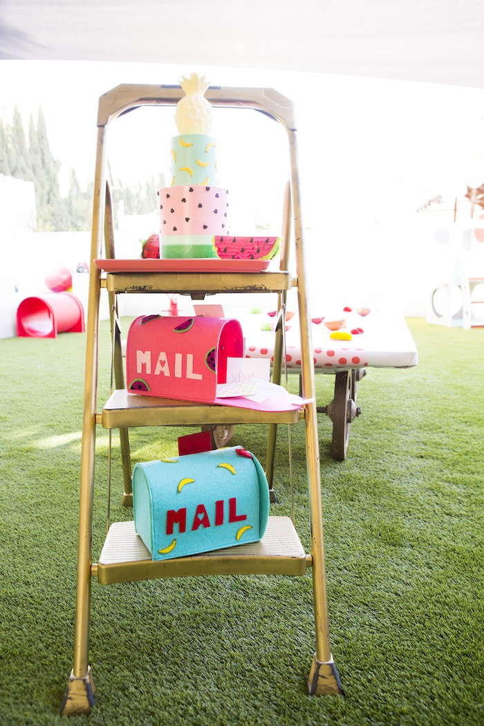 Mailboxes from a Tutti Frutti Valentine's Day Party on Kara's Party Ideas | KarasPartyIdeas.com (5)