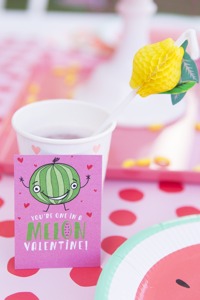 Tutti Frutti Valentine from a Tutti Frutti Valentine's Day Party on Kara's Party Ideas | KarasPartyIdeas.com (21)