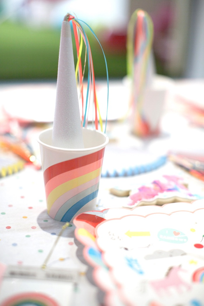 "Partyware from a ""Unicorns are Real"" Birthday Party on Kara's Party Ideas 