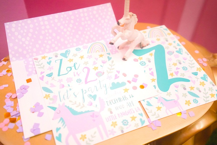 "Invitation from a ""Unicorns are Real"" Birthday Party on Kara's Party Ideas 