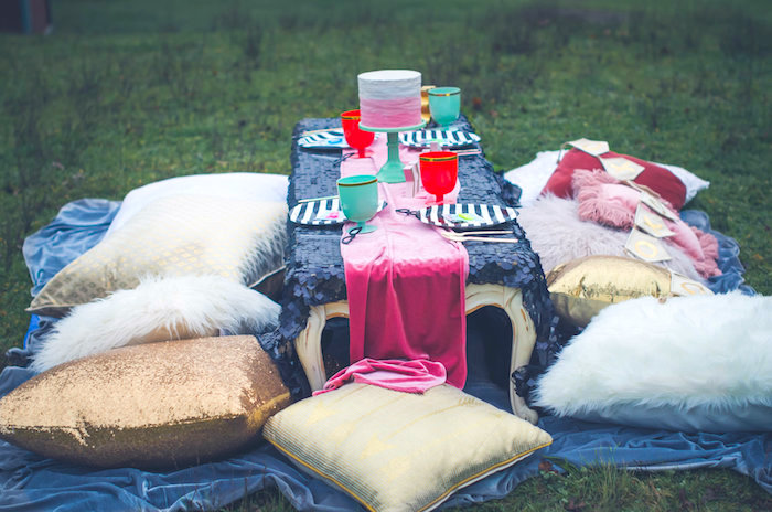Bohemian guest table from a Valentine Playdate Party on Kara's Party Ideas | KarasPartyIdeas.com (21)