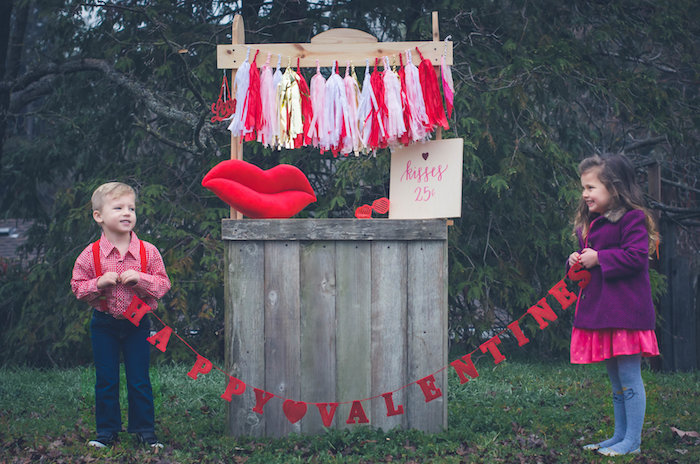 Happy Valentines Banner from a Valentine Playdate Party on Kara's Party Ideas | KarasPartyIdeas.com (19)