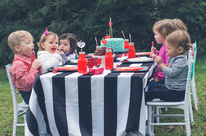 Guest tablescape from a Valentine Playdate Party on Kara's Party Ideas | KarasPartyIdeas.com (17)