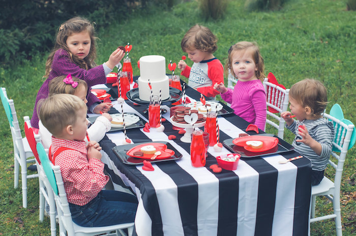 Guest tablescape from a Valentine Playdate Party on Kara's Party Ideas | KarasPartyIdeas.com (16)