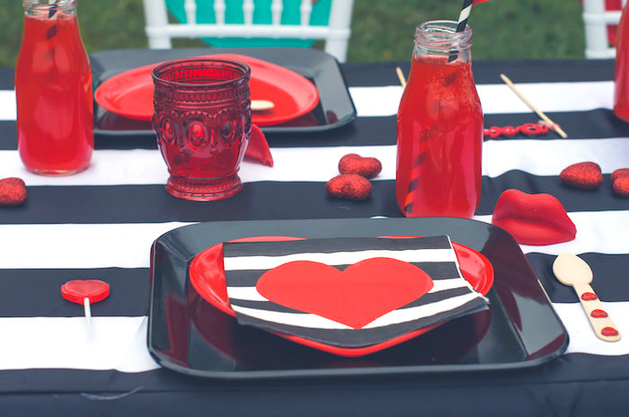 Place setting from a Valentine Playdate Party on Kara's Party Ideas | KarasPartyIdeas.com (32)