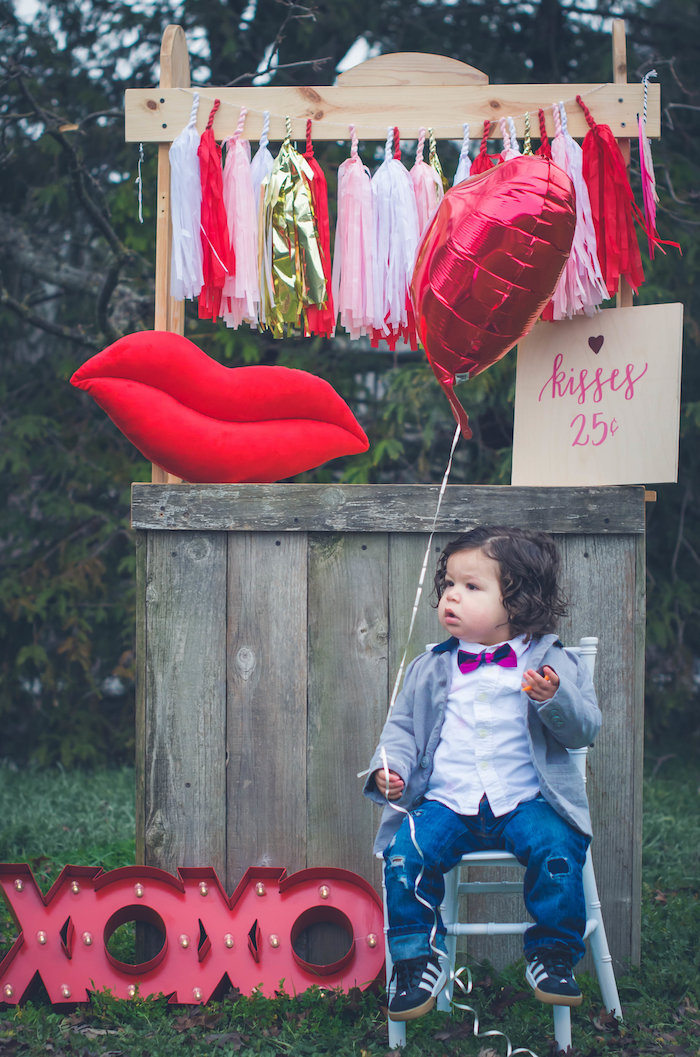 Kissing booth from a Valentine Playdate Party on Kara's Party Ideas | KarasPartyIdeas.com (13)