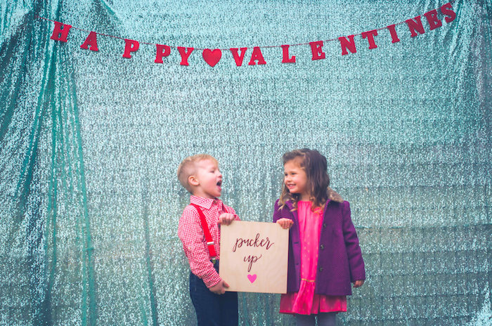Photo booth fun from a Valentine Playdate Party on Kara's Party Ideas | KarasPartyIdeas.com (12)