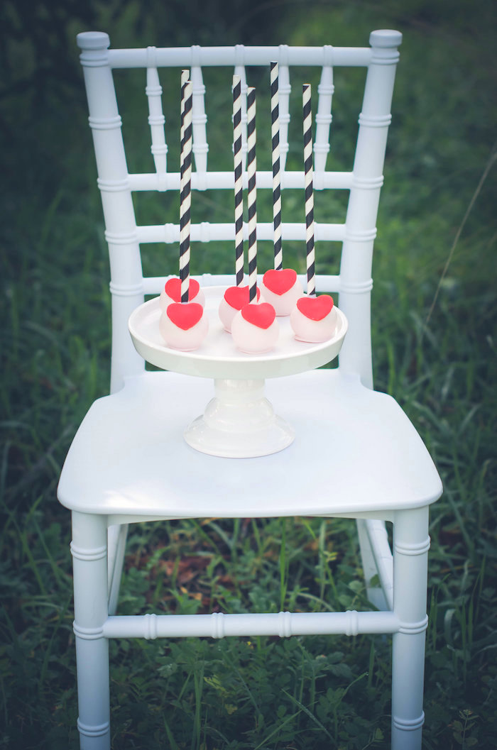 Heart cake pops from a Valentine Playdate Party on Kara's Party Ideas | KarasPartyIdeas.com (9)