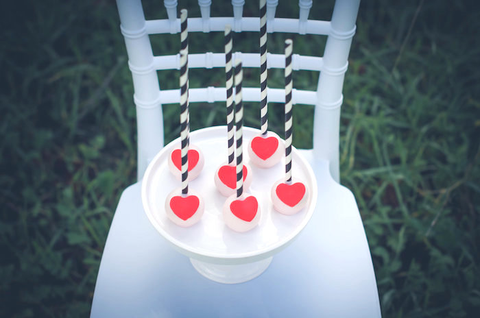 Heart cake pops from a Valentine Playdate Party on Kara's Party Ideas | KarasPartyIdeas.com (8)