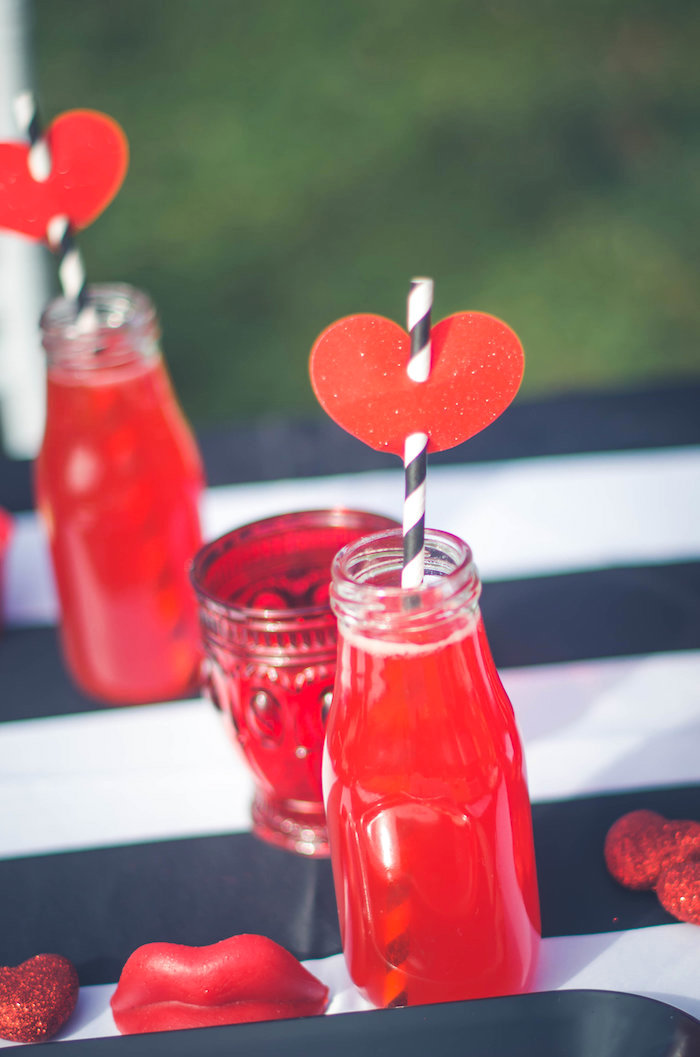 Valentine drink bottle from a Valentine Playdate Party on Kara's Party Ideas | KarasPartyIdeas.com (7)