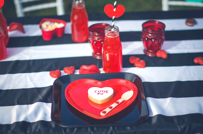 Place setting from a Valentine Playdate Party on Kara's Party Ideas | KarasPartyIdeas.com (6)