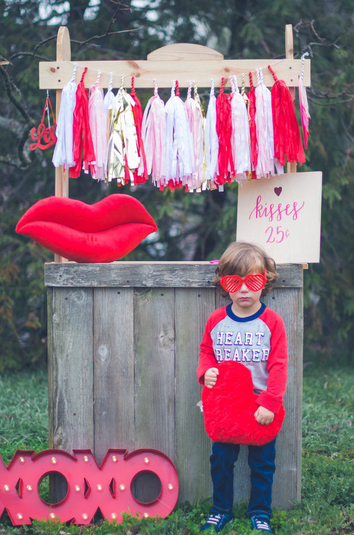 Kissing booth from a Valentine Playdate Party on Kara's Party Ideas | KarasPartyIdeas.com (27)