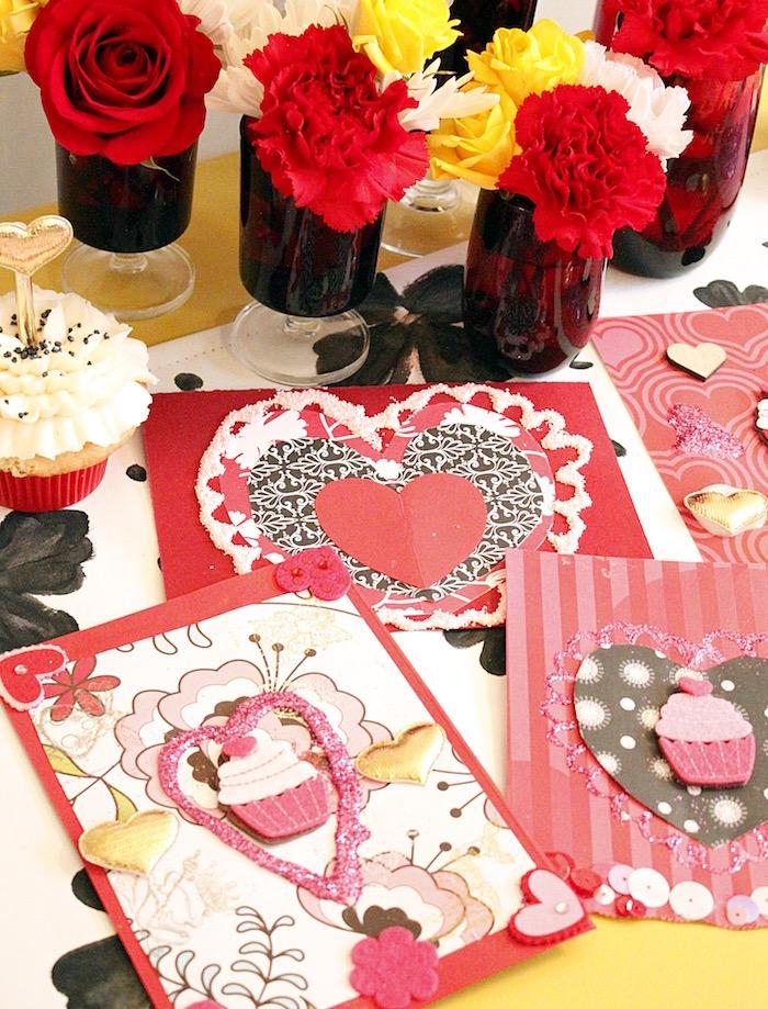 Kara\'s Party Ideas Valentine\'s Day Crafting Party | Kara\'s Party Ideas