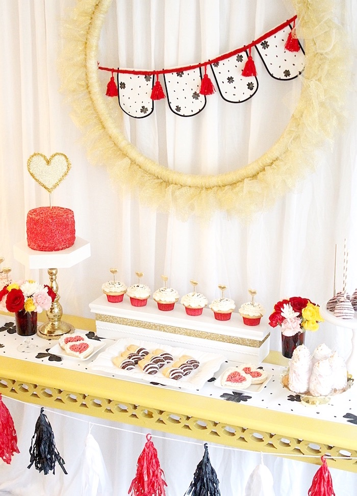 Dessert table from a Valentine's Day Crafting Party on Kara's Party Ideas | KarasPartyIdeas.com (26)