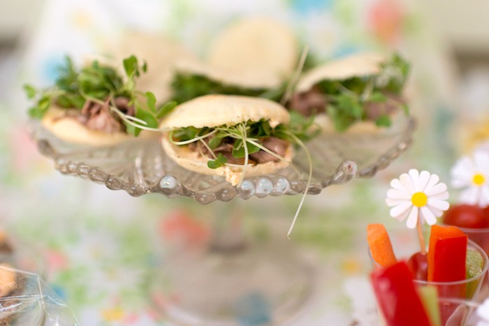 Garden sandwiches from a Vintage Retirement Tea Party on Kara's Party Ideas | KarasPartyIdeas.com (26)