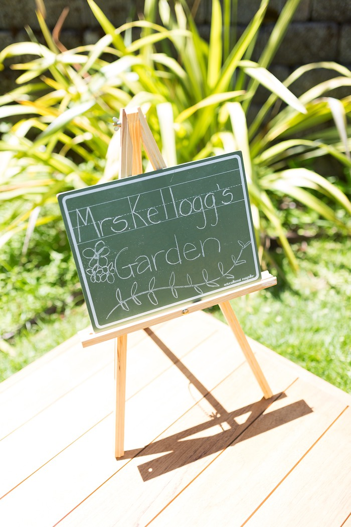 Easel chalkboard sign from a Vintage Retirement Tea Party on Kara's Party Ideas | KarasPartyIdeas.com (20)