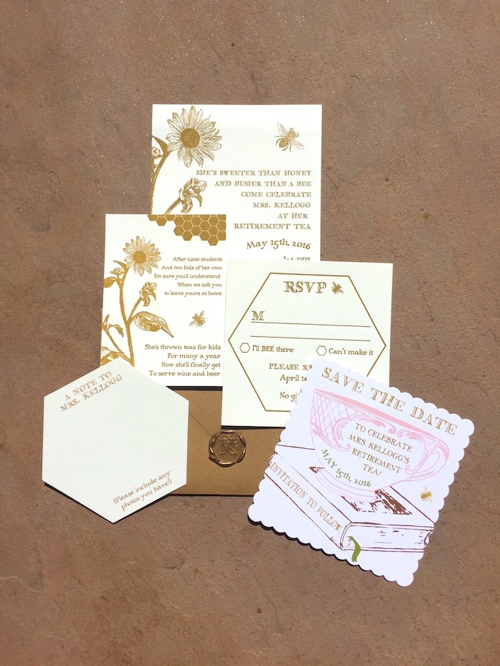 Invitation from a Vintage Retirement Tea Party on Kara's Party Ideas | KarasPartyIdeas.com (35)