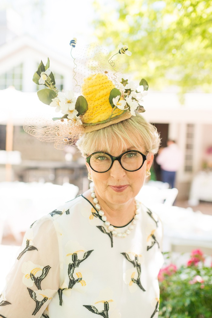 Beehive hat from a Vintage Retirement Tea Party on Kara's Party Ideas | KarasPartyIdeas.com (15)