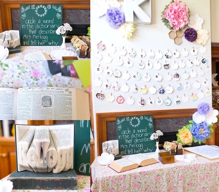 Signing table from a Vintage Retirement Tea Party on Kara's Party Ideas | KarasPartyIdeas.com (7)