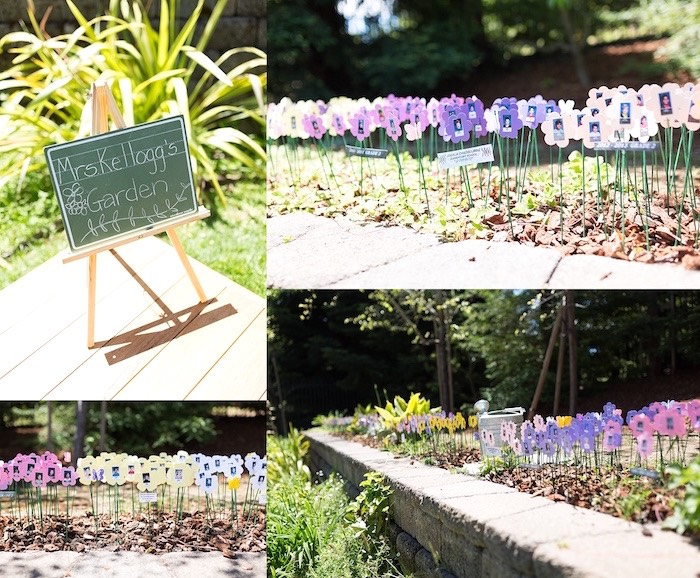 Mrs. Kellog's Flower/Student Garden from a Vintage Retirement Tea Party on Kara's Party Ideas   KarasPartyIdeas.com (6)