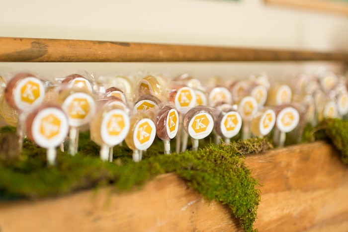 Lollipops from a Vintage Retirement Tea Party on Kara's Party Ideas | KarasPartyIdeas.com (2)