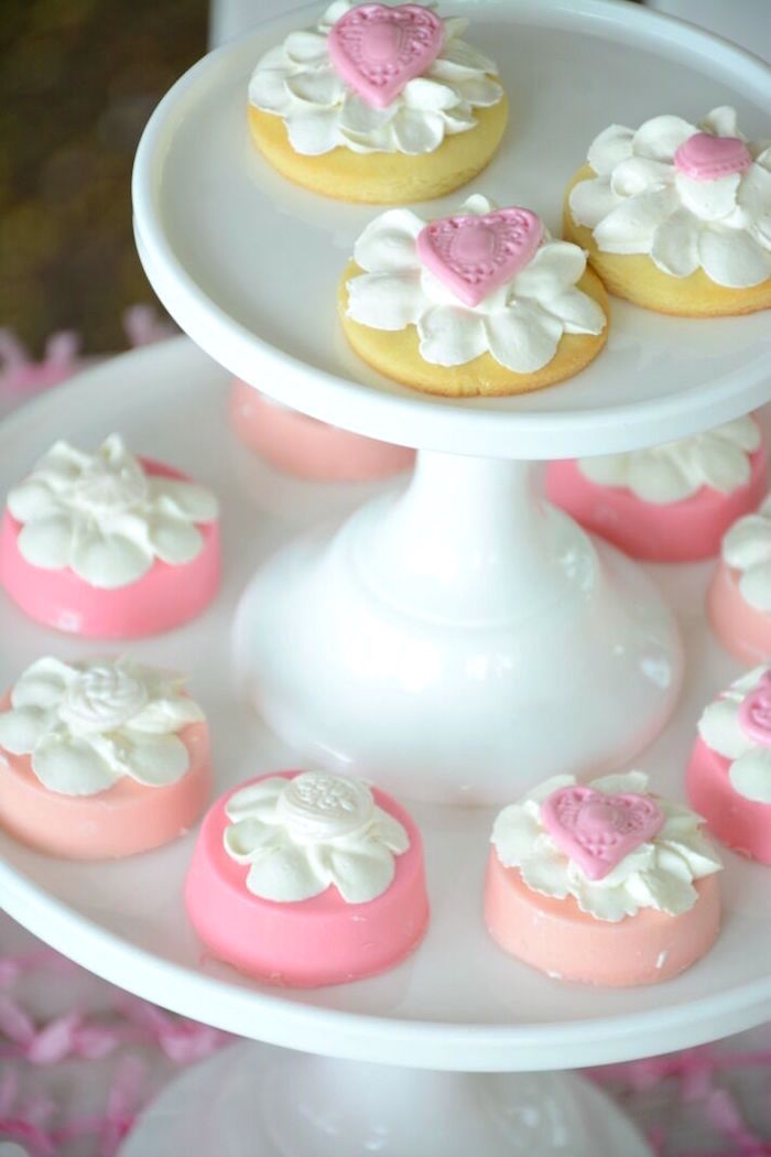 Chocolate covered Oreos & cookies from a Vintage Valentine's Day High Tea Party on Kara's Party Ideas | KarasPartyIdeas.com (7)