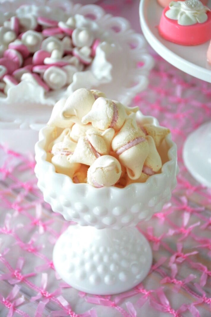Meringue kiss cookies from a Vintage Valentine's Day High Tea Party on Kara's Party Ideas | KarasPartyIdeas.com (20)