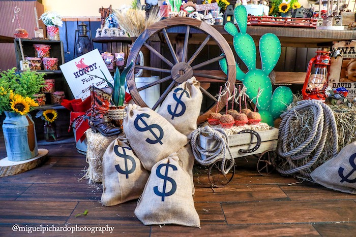 Money bags from a Western Cowboy Birthday Party on Kara's Party Ideas | KarasPartyIdeas.com (21)