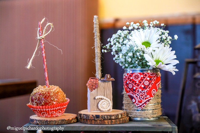 Sweets and flowers from a Western Cowboy Birthday Party on Kara's Party Ideas | KarasPartyIdeas.com (19)
