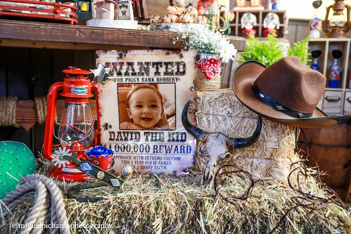 Wanted poster from a Western Cowboy Birthday Party on Kara's Party Ideas | KarasPartyIdeas.com (17)