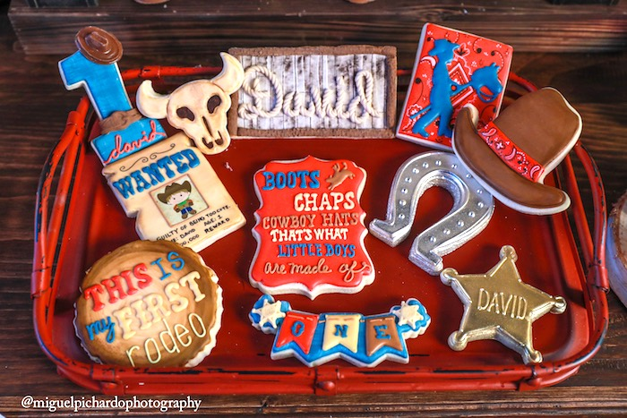 Western cookies from a Western Cowboy Birthday Party on Kara's Party Ideas | KarasPartyIdeas.com (9)