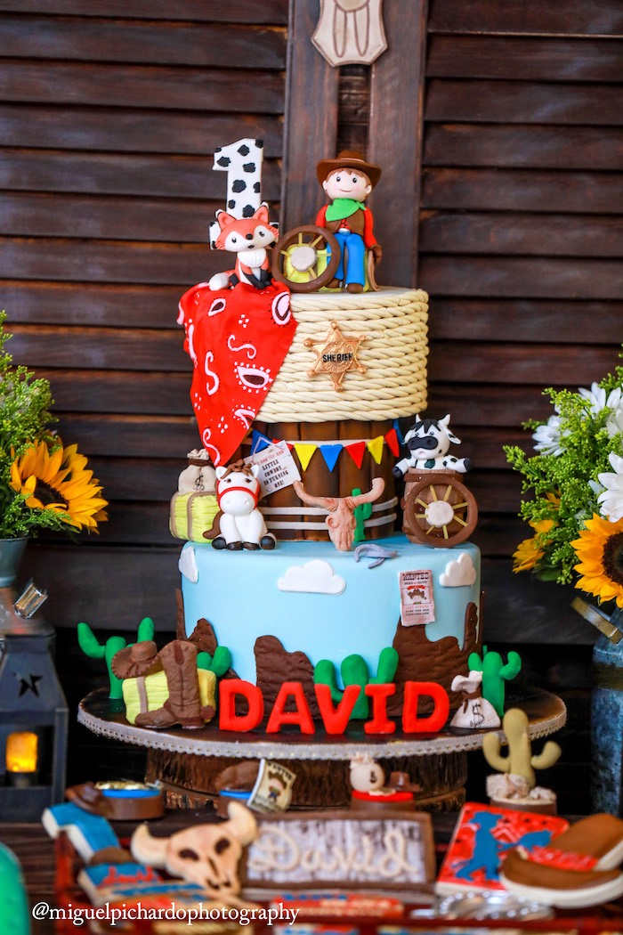 Western cake from a Western Cowboy Birthday Party on Kara's Party Ideas | KarasPartyIdeas.com (4)
