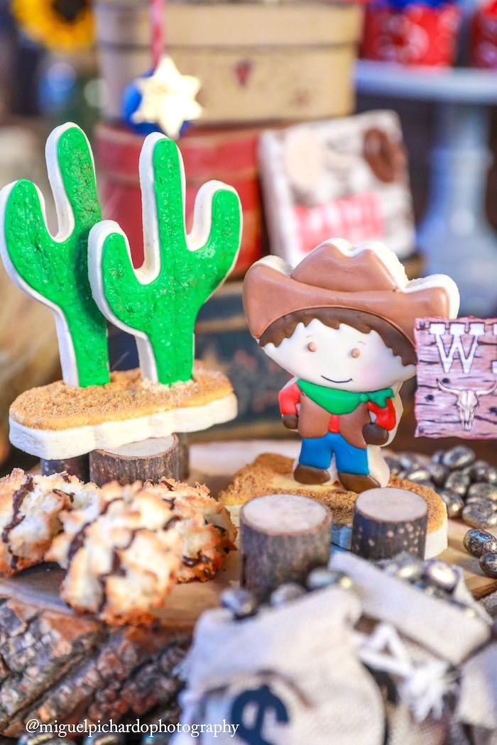Western cookies from a Western Cowboy Birthday Party on Kara's Party Ideas | KarasPartyIdeas.com (27)