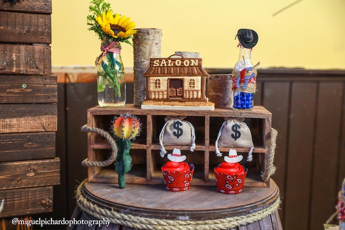 Sweets and decor from a Western Cowboy Birthday Party on Kara's Party Ideas | KarasPartyIdeas.com (25)
