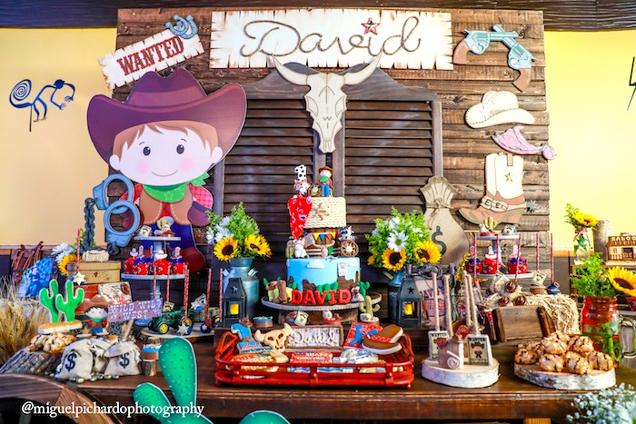 Saloon dessert table from a Western Cowboy Birthday Party on Kara's Party Ideas | KarasPartyIdeas.com (23)
