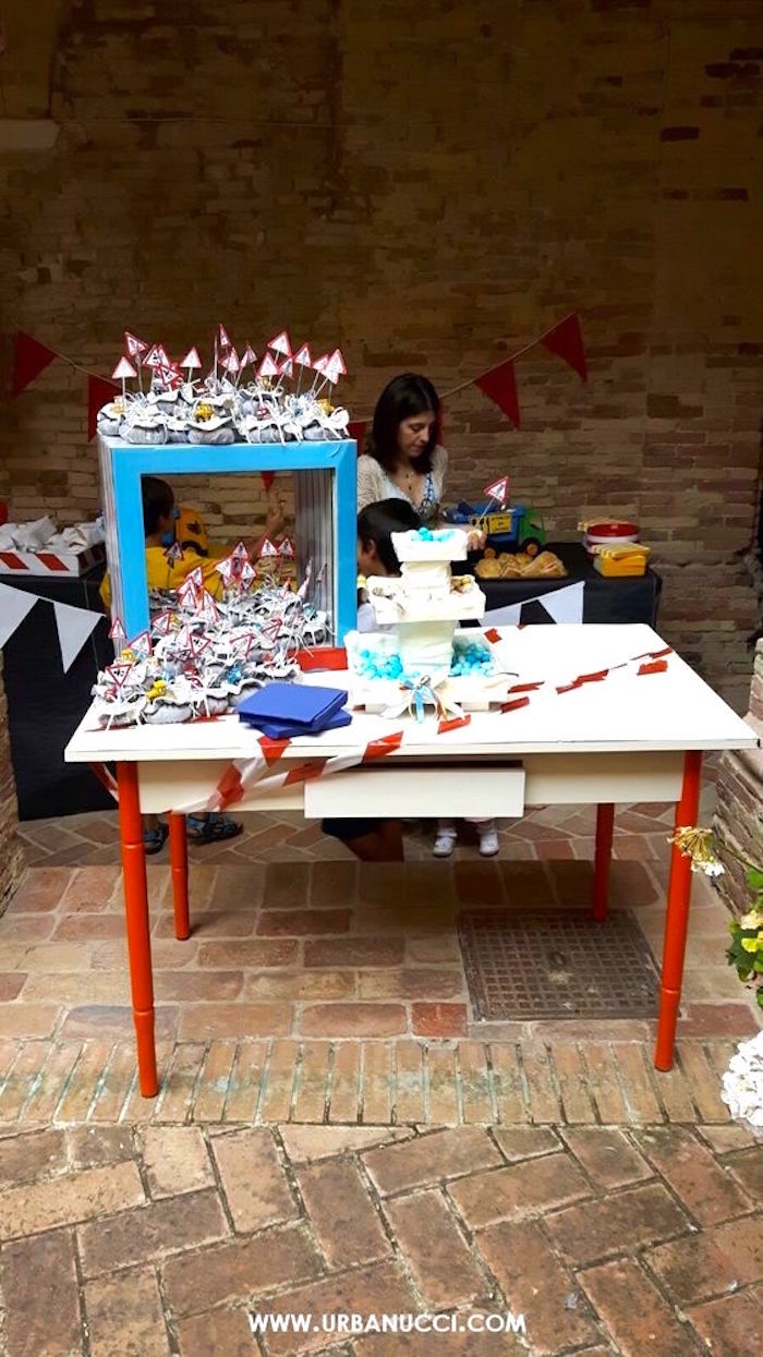 Favor table from a Work in Progress Construction Baby Shower on Kara's Party Ideas | KarasPartyIdeas.com (6)