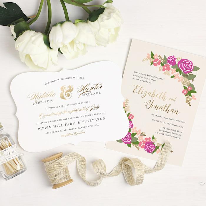 Basic Invite Wedding Invitation via KarasPartyIdeas.com #invitations #wedding #custominvites #customweddinginvitations