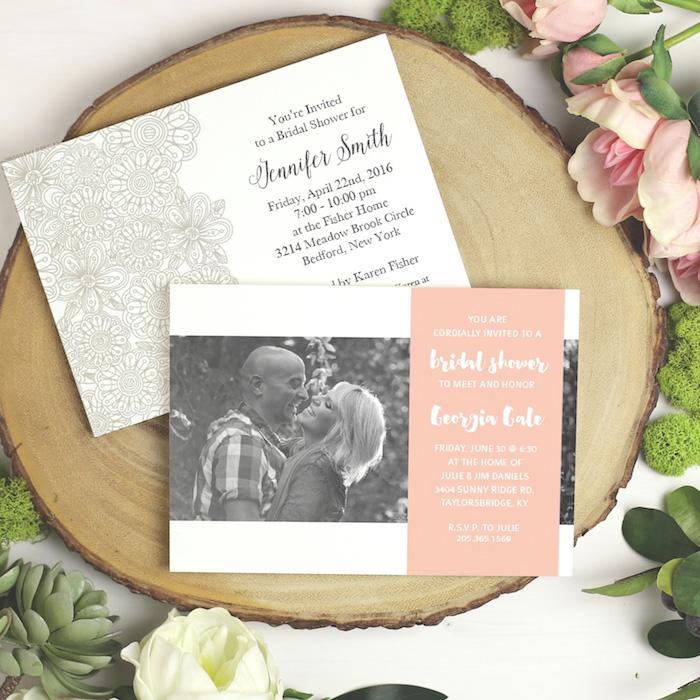 Basic Invite Bridal Shower Invitation via KarasPartyIdeas.com #invitations #bridalshower #custominvites #bridalshowerinviation