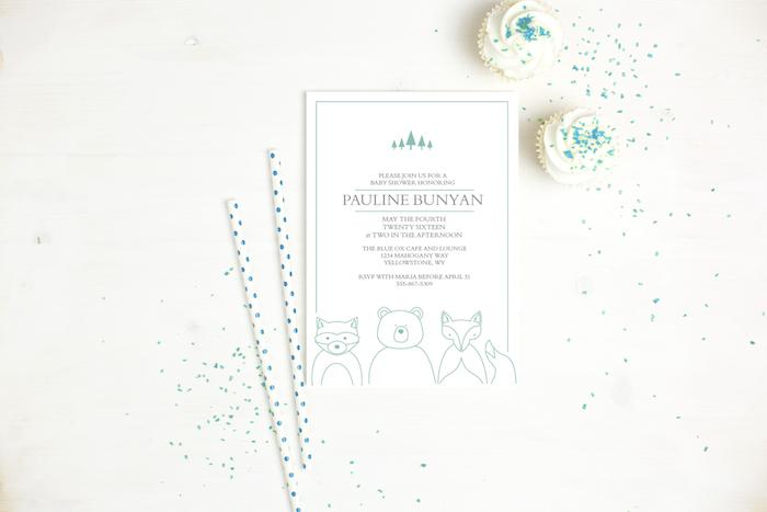 Basic Invite Baby Shower Invitation via KarasPartyIdeas.com #invitations #babyshower #custominvites #cutebabyshowerinviation