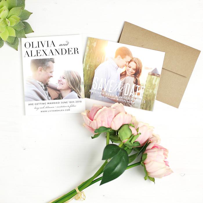 Basic Invite Save the Date via KarasPartyIdeas.com #invitations #savethedate #custominvites #customweddinginvitations