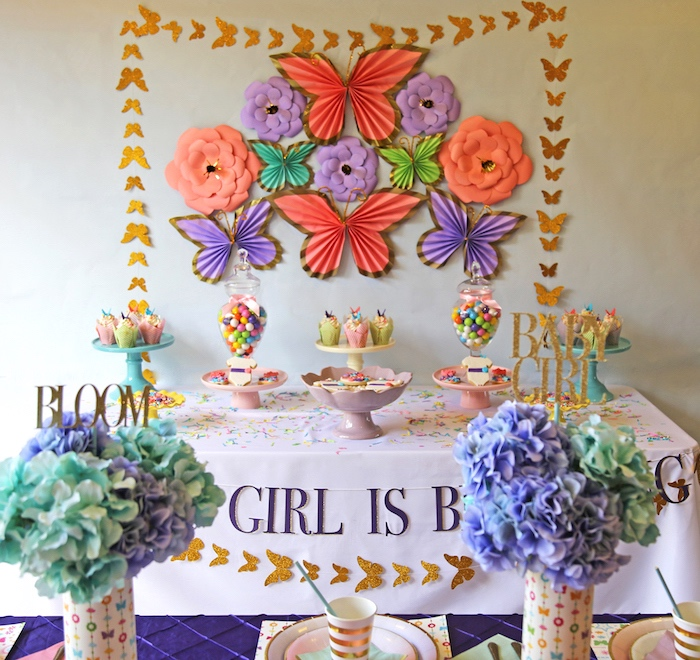"""A Girl is Blooming"" Spring Baby Shower on Kara's Party Ideas 