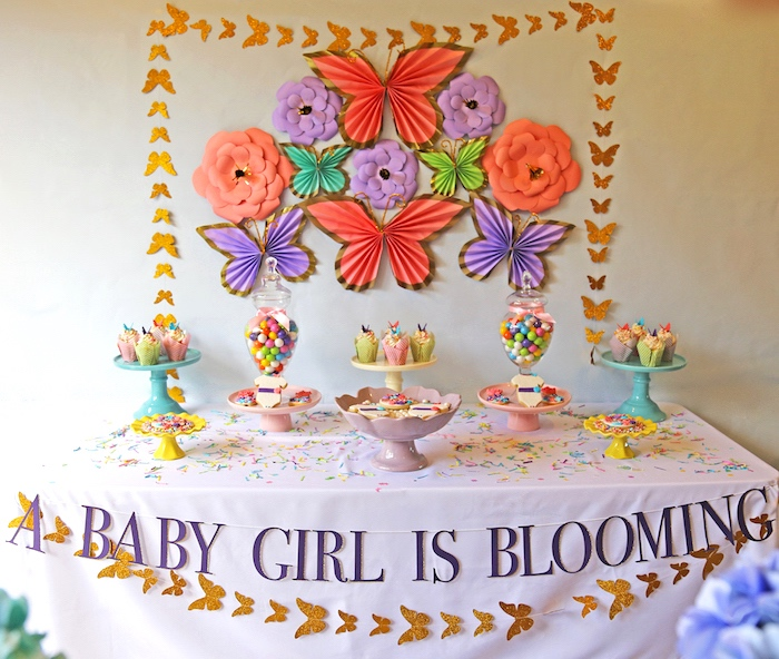 Karas Party Ideas A Girl Is Blooming Spring Baby Shower Karas