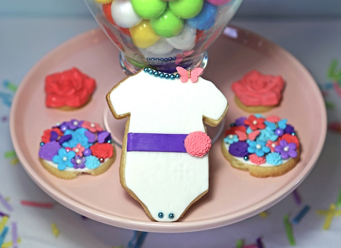 "Cookies from ""A Girl is Blooming"" Spring Baby Shower on Kara's Party Ideas 