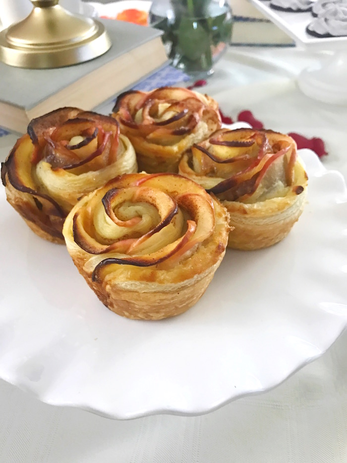 "Apple rose tarts from a ""Be Our Guest"" Beauty and the Beast Party on Kara's Party Ideas 